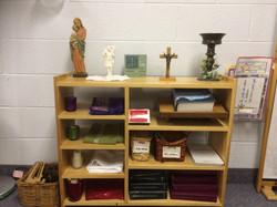 Prayer corner shelf
