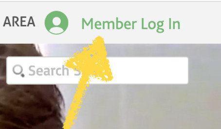Logging into the Members Area