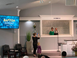 Baptism Sunday at Liberty Baptist