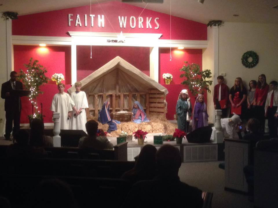 Christmas play at Liberty Baptist