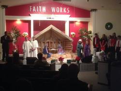 Christmas play at Liberty Baptist