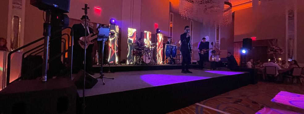 Live Band & LED Backdrop