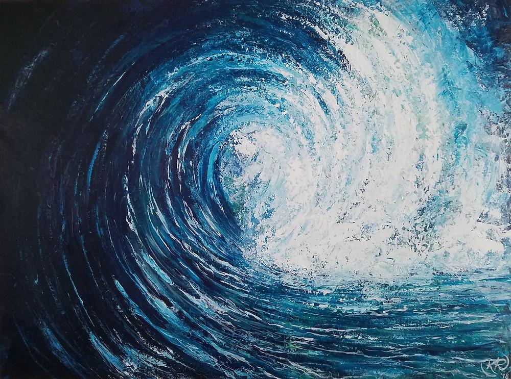 2018, Acrylic on Canvas, 30x40, $1777.00