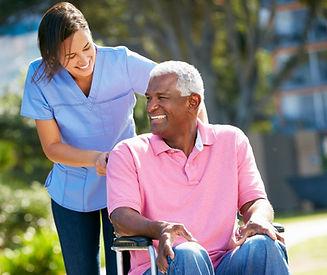 Support worker providing respite care.