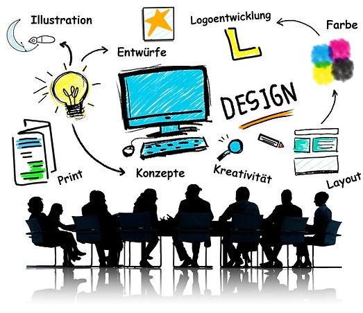 Illustrationen, Enrtwürfe  Lgogestaltungen etc.  entspringen einem kreativen Prozess.