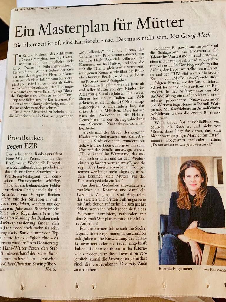 Our Founder and CEO Dr. Ricarda Engelmeier in the Frankfurter Allgemeine Sonntagszeitung