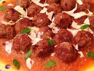 Almôndegas FIT com Molho de tomate caseiro