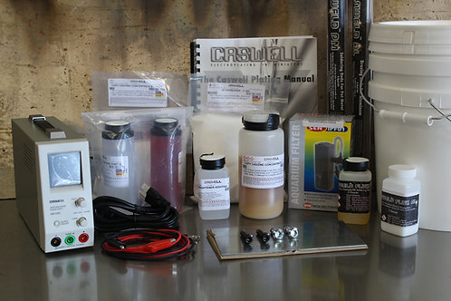Caswell 1.5 Gallon Zinc Plating Kit with DC Power Supply
