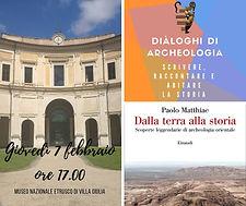 Evento Diàloghi di Archeologia 7 febbraio 2019