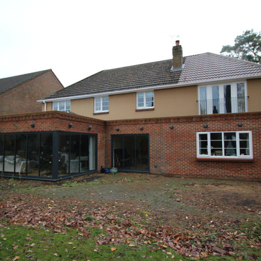 Two storey extension to create new master suite, bathroom, living space, shower room and utility area