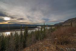 Sunburst above the Mighty Yukon