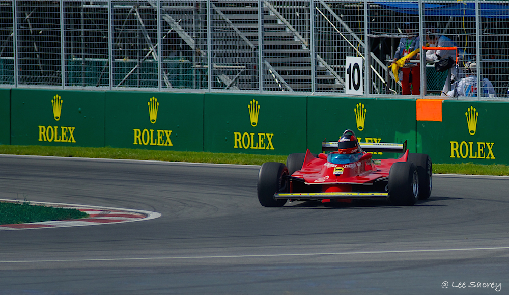 Gillis Villeneuve's 1980 Ferrari 312 T5 on Circuit Gillis Villeneuve, Montreal