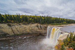 Powerful Alexandra Falls