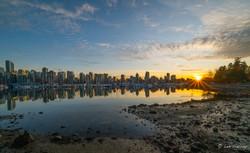 Vancouver Sunset Skyline