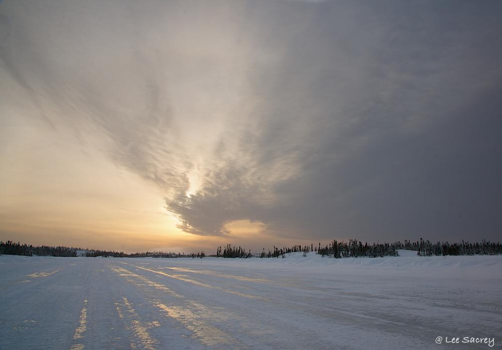 Overcast Ice Road