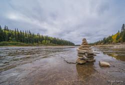 Inukshuk on the Hay River