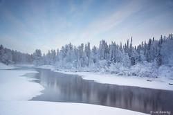 Winter Cameron River Calm