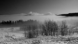 Slave River Fog (Monochrome)