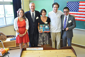 Julz Andy Jean Jeff Anderson with Shinichi Endo Taylor Anderson Reading Corner dedication Mangukuura Elementary School Ishinomaki Japan September 6,2011