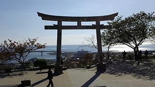 Live Your Dream: The Taylor Anderson Story Hiyoriyama 日和山 Kashimamiko jinja shrine 鹿島御児神社 torii