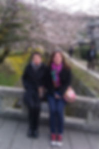 Taylor and Jean Kyoto, Japan Philosopher's Walk March, 2010