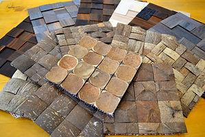 Мозайка из кокоса. Мозайка из дерева. Натуральные материалы. Эко стиль.