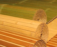 Бамбуковые обои. Покрытие из ламелей бамбука.