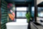 Фреска. Фотообои в ванную. Цветы.