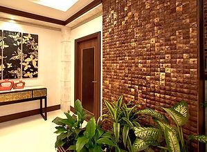 Мозайка из кокоса. Натуральны покрытия. Эко стиль.