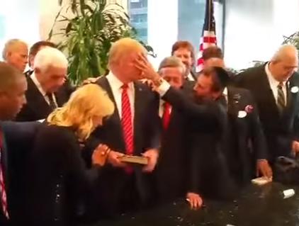 Что сделал с лицом Дональда Трампа мессианский раввин (ВИДЕО)