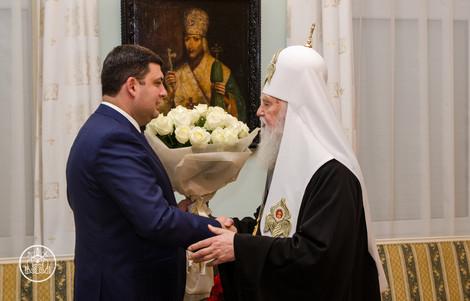 Патриарха Филарета с днем Ангела поздравил премьер Украины