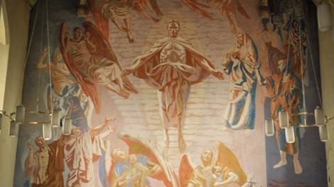 В Великобритании открыли замурованную на 50 лет 11-метровую фреску Иисуса Христа