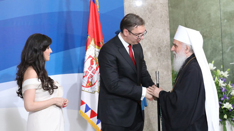 Патриарх Ириней и архиереи Сербской Православной Церкви приняли участие в торжествах по случаю инауг