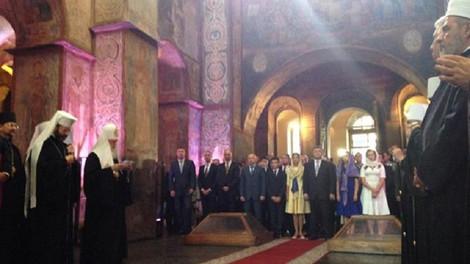 Главы Церквей праздновали День независимости Украины в Софии Киевской и на площади Независимости