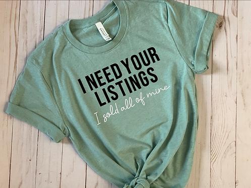 I Need Listings