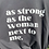 Thumbnail: As Strong as the Woman Next to Me