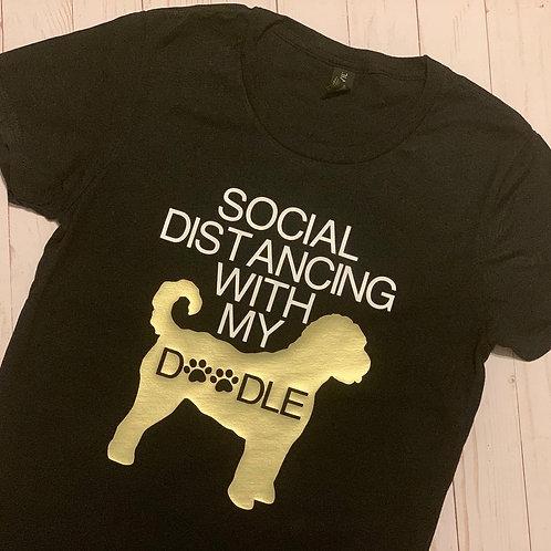 Social Distancing w/ Dog Tee