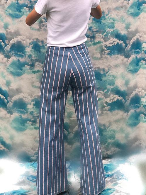 "Pantalon ""Candela"" Rayé jean"