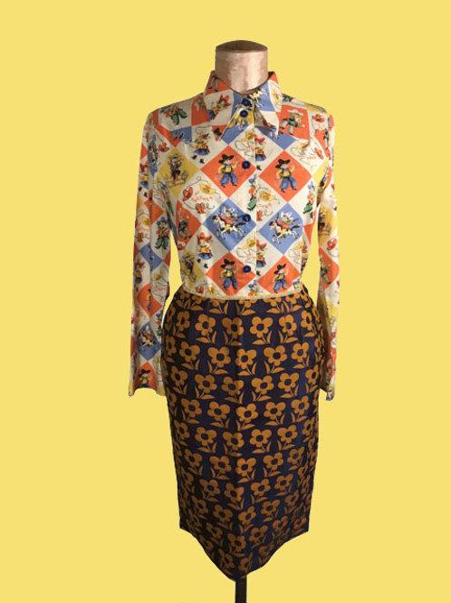 jupe crayon corriola fleurs