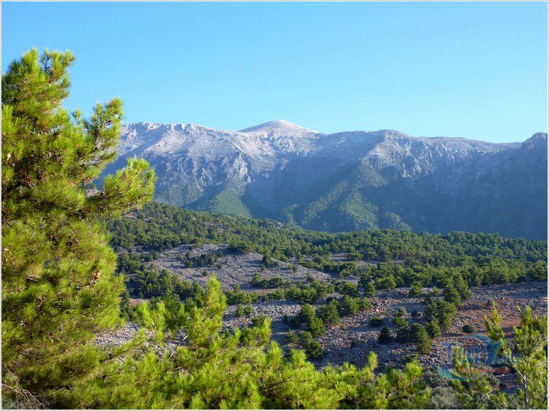 White mountains in Crete