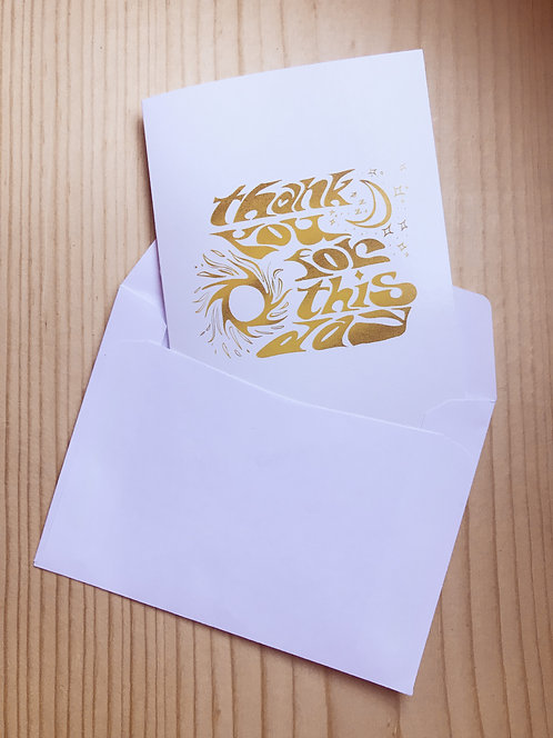 'Thank You for This Day' Greeting Card