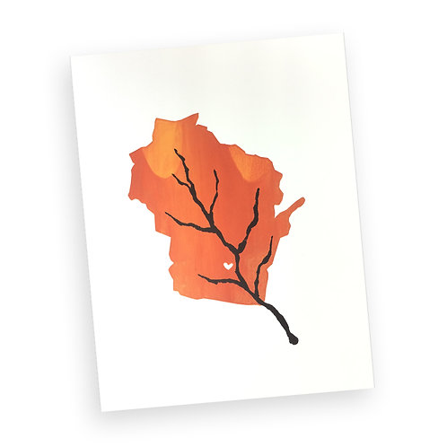 Autumn in Wisconsin Print (Orange)