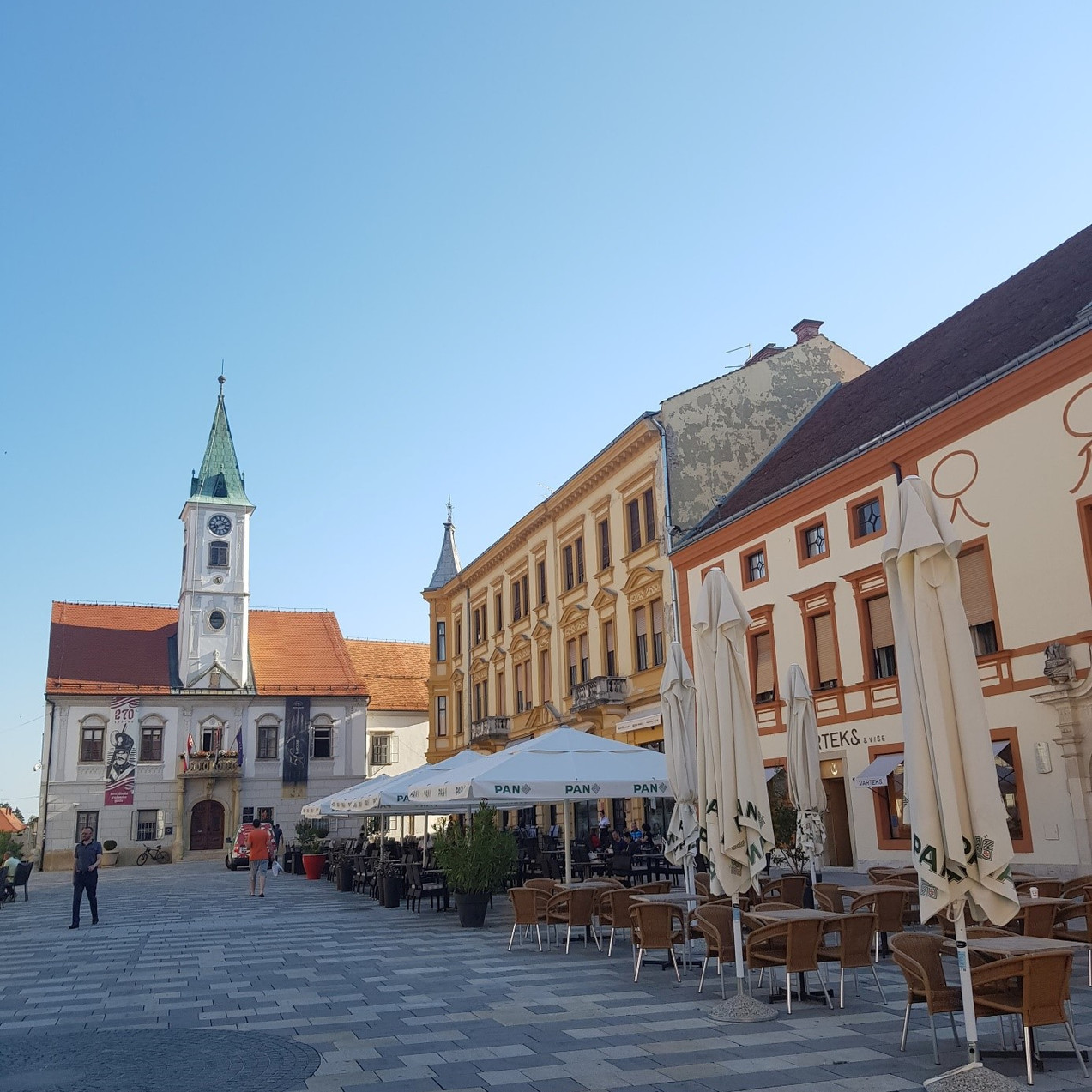 The Old Town in Varaždin
