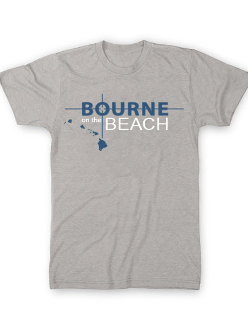 Bourne on the Beach Tee - Light Grey