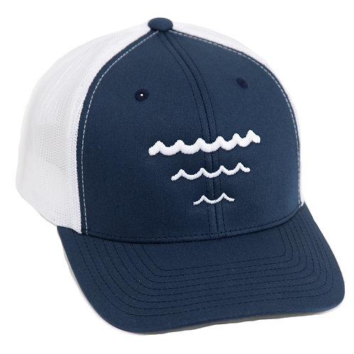 Bourne Logo Embroidered Hat - Dark Blue