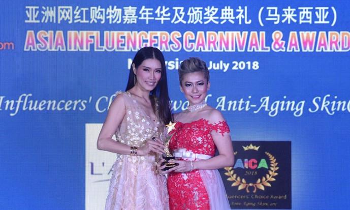 亚洲网红购物嘉年华颁奖礼 谢丽萍郭纹霓获颁影响力奖