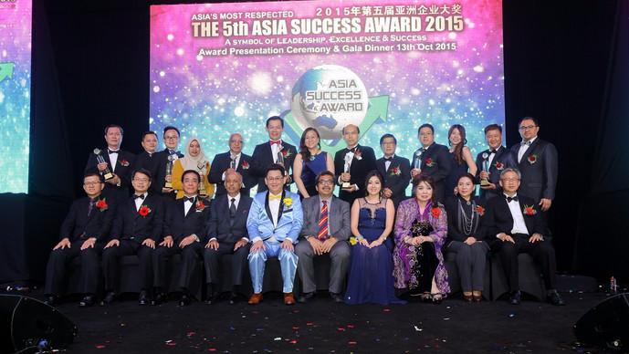 """2015年第5届亚洲企业大奖颁奖礼 特颁超级金奖与""""世界企业成功记录大全""""认证"""