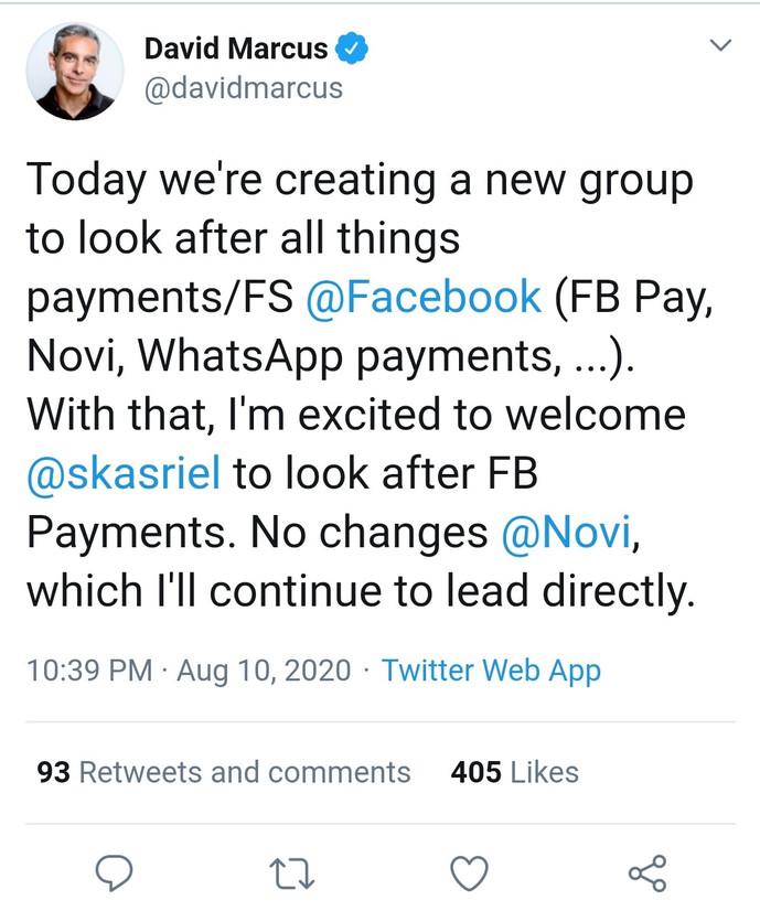 Facebook成立金融部门  将支付系统整合