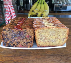 Banana Cake and Fruit Cake