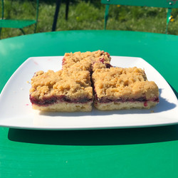 Blackcurrant Crumble Slice- Vegan an